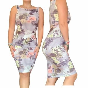 Boohoo Floral BodyCon Dress size m